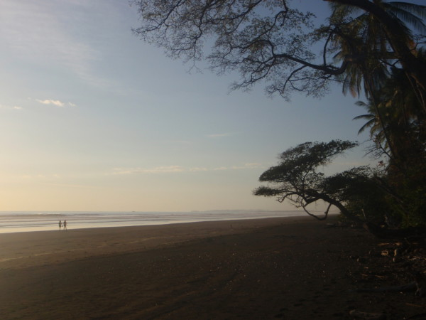 Semi-private and nearly deserted Barú beach (all beaches in Costa Rica are public, but the Hacienda Barú National Wildlife Refuge owns much the land backing this area so it's never crowded)