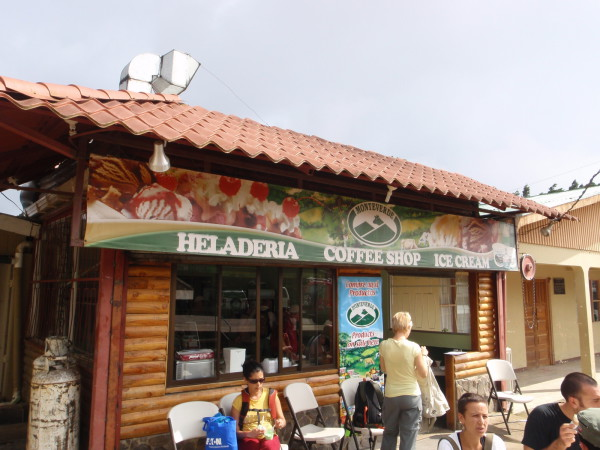 Monteverde dairy ice cream shop in Santa Elena