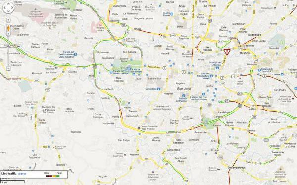 Live Traffic Map San Jose Costa Rica