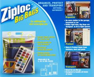 Giant ziplock storage bags