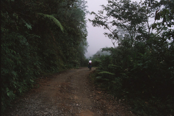 Mountain bike touring