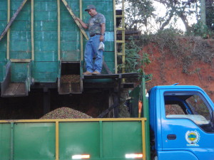 loading coffee truck