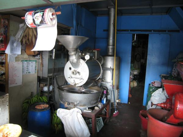 Antique coffee roaster