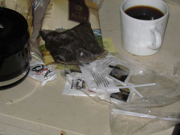 Coffee garbage
