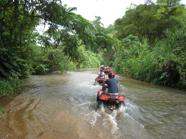 4 Wheelers in a River