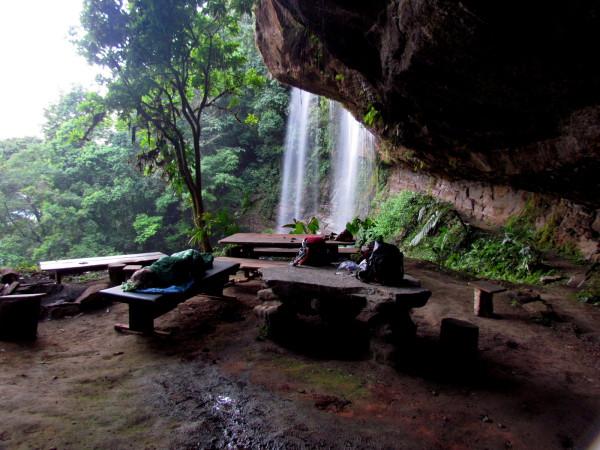 Camp under Diamante waterfall