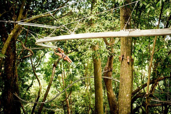 Canopy Zip-Rail ride at Costa Verde Lodge Manuel Antonio