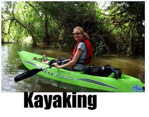 Calm water canoeing and kayaking in Costa Rica
