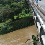 Crocodile bridge over the Tarcoles river Costa Rica