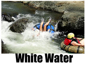 White water rafting and inner-tubing in Costa Rica