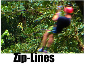 Canopy zip-lines, zip-rails and other treetop tours in Costa Rica
