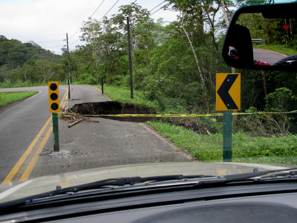Giant Costa Rica Pothole