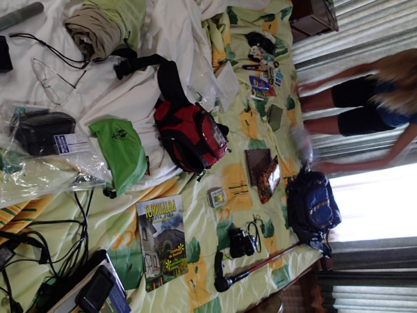 re-packing our travel gear