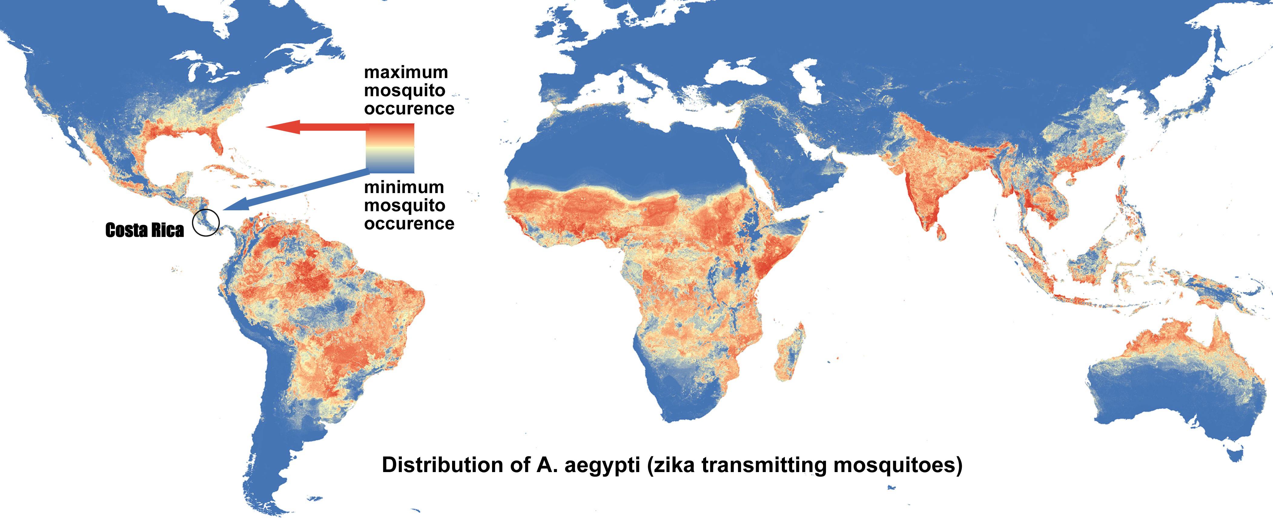 Scientific Perspective On Zika In Costa Rica - Us map of costa rica