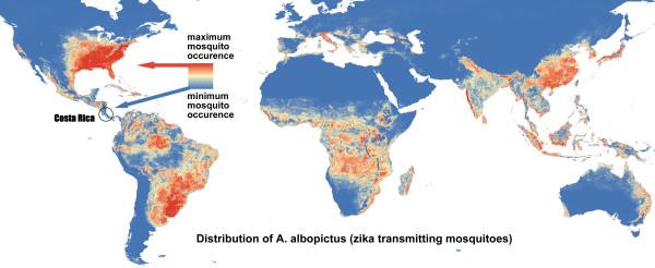 Zika, Dengue, Chikungunya albopictus mosquito distribution