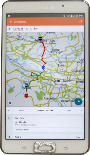 San Jose, Airport & Metro Public Bus Route Map