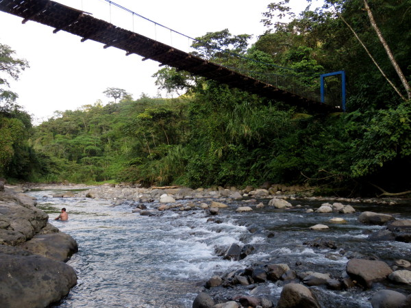 Swimming hole in the Río Peñas Blancas, Costa Rica