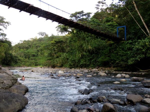 Swimming hole in the Río Peñas Blancas, Costa Rica