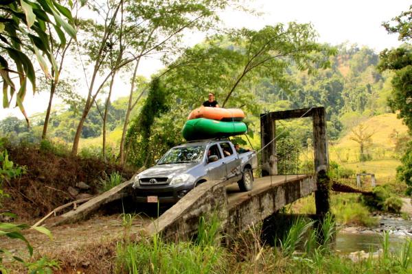 off-road vehicle suspension bridge