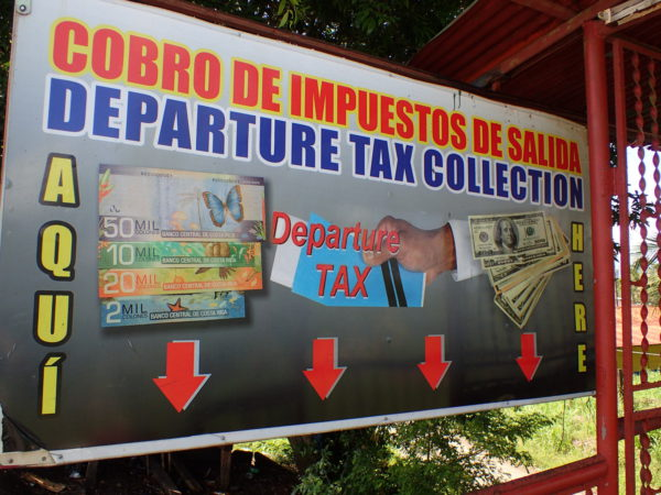 Costa Rica Land Departure Tax