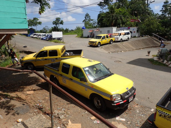 Taxis on the Panama Border