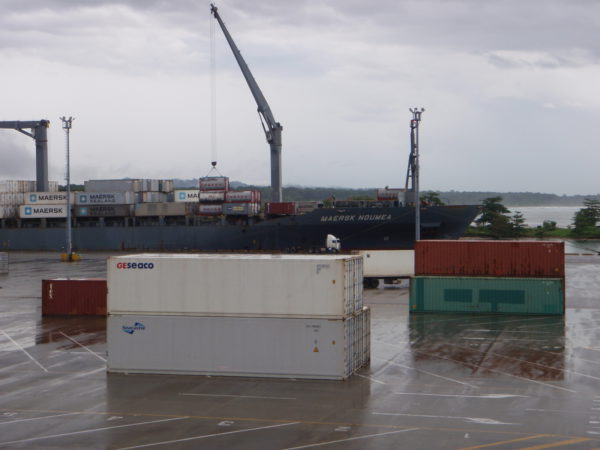 Cargo dock at Moin Costa Rica