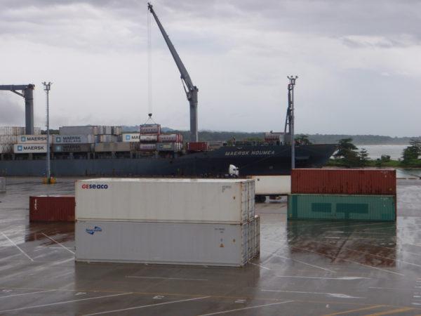 Cargo dock at Moin Costa Rica