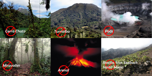 volcanoes closed down in Costa Rica