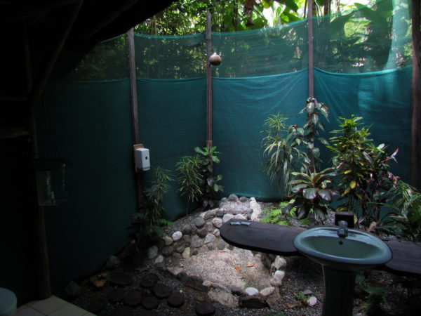 rainforest shower outdoor bathroom