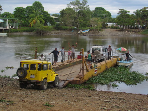 Sierpe River ferry loading