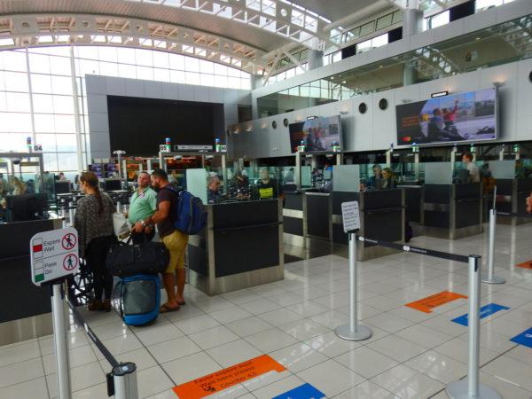 Passport control leaving SJO
