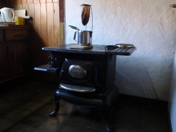 wood stove and chorreador