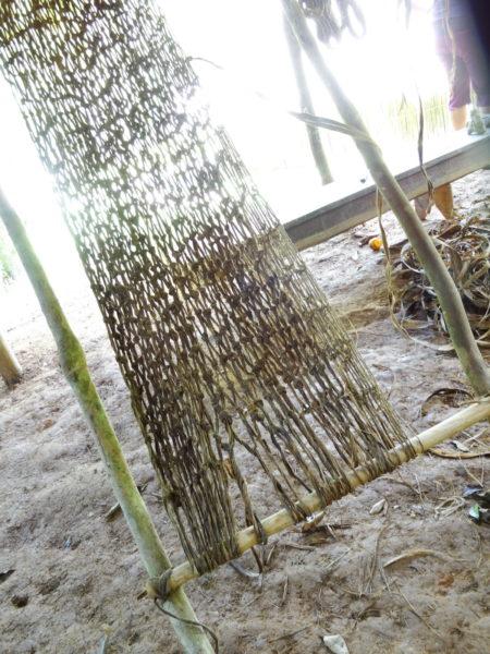 weaving a hammock
