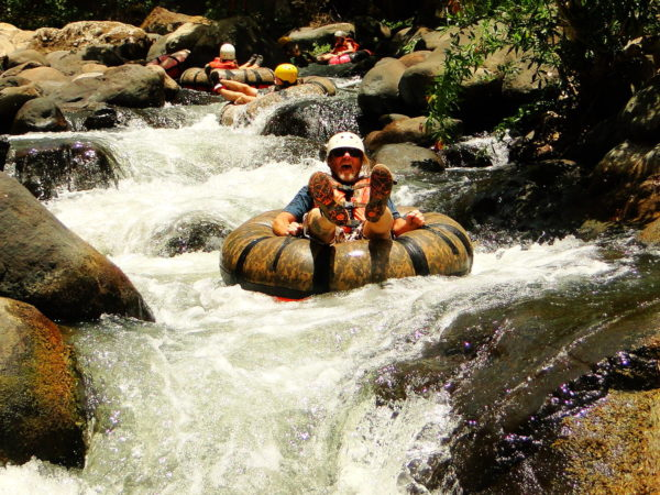 White water inner tubing in the Rio Colorado
