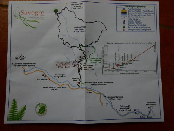 Savegre Lodge trail map