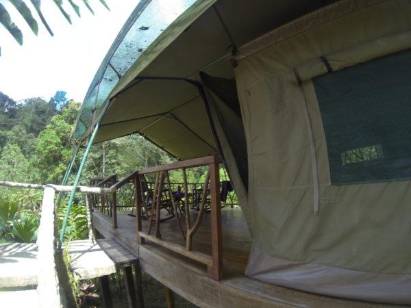 A safari tent at Rafiki Lodge