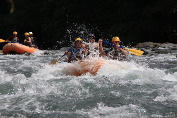Digging in to the white water