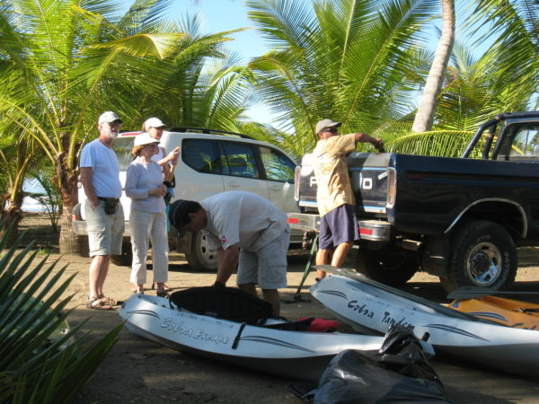 Unloading the boats