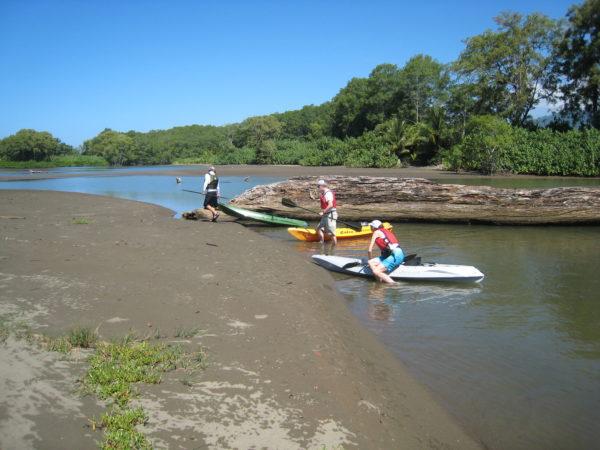 dragging kayaks