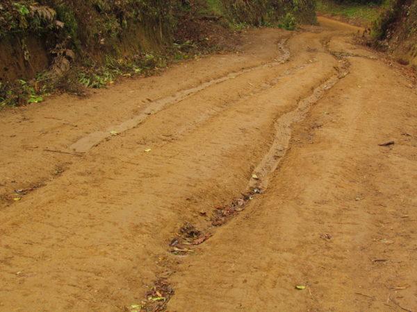 4WD slid backwards