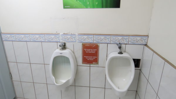no toilet paper in the urinal