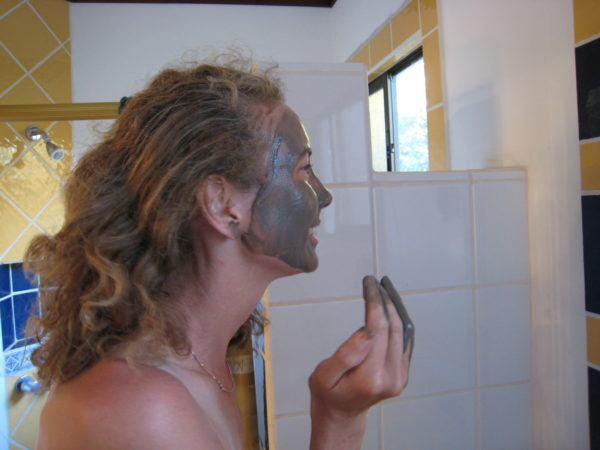 complimentary volcanic mud mask