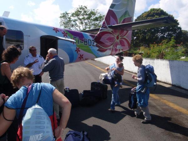 Baggage claim, Puerto Jimenez