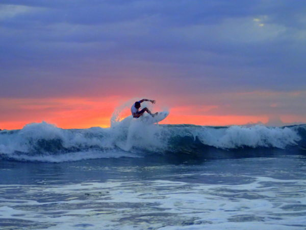 Sunset surf Costa Rica