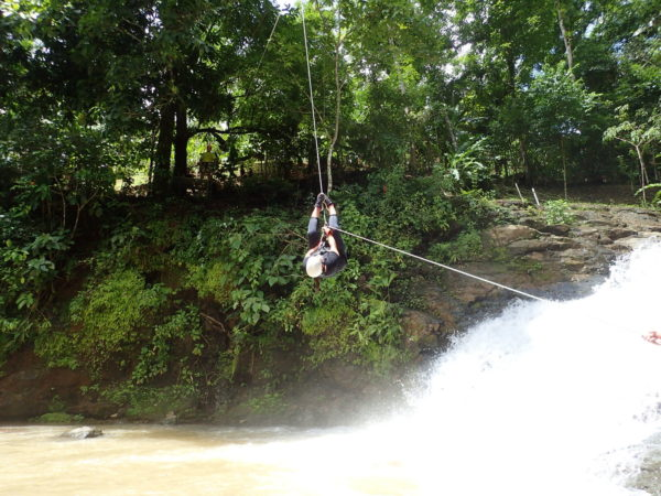 waterfall zipline