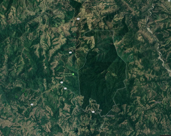 Cangreja deforestation satellite