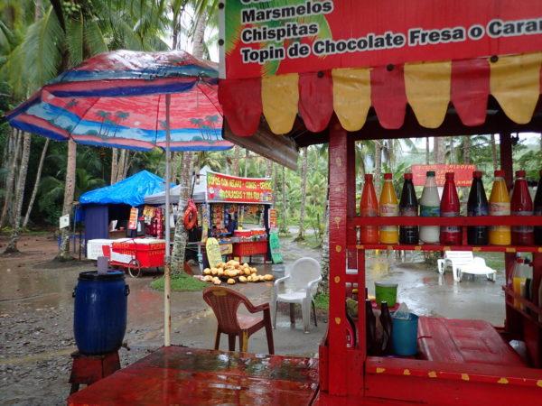 Copa vendor stalls