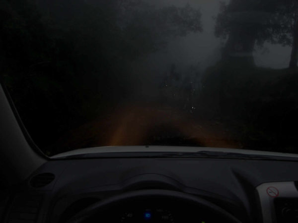 driving in the dark in Costa Rica