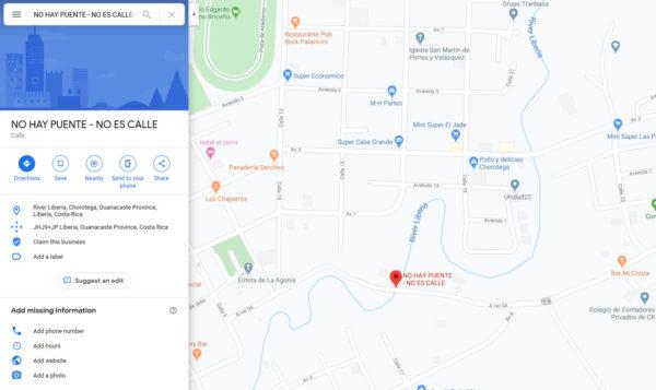 no-hay-puente-google-maps